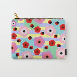 Poppies and stripes Carry-All Pouch