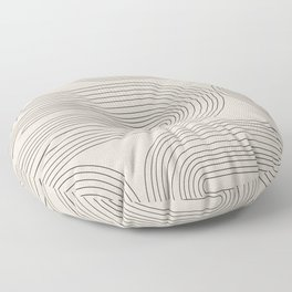 Minimalist, Line Art Modern Floor Pillow