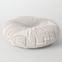 Minimalist, Line Art Modern Floor Pillow
