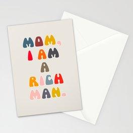 Mom, I Am A Rich Man. Stationery Cards