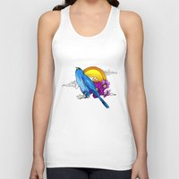 pigeon Tank Tops featuring Pigeon by happytunacreative