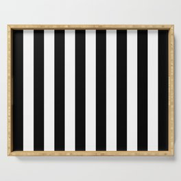 Parisian Black & White Stripes (vertical) Serving Tray