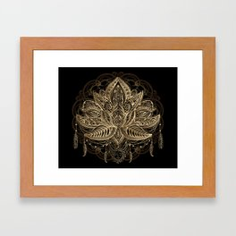 Lotus Black & Gold Framed Art Print