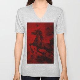 HORSE - RED Unisex V-Neck