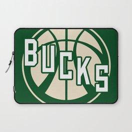 Bucks basketball vintage green logo Laptop Sleeve
