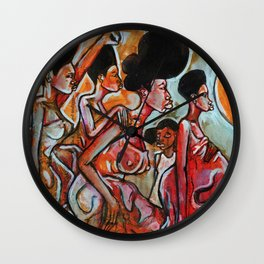 2017 My Sisters Freedom Story art by Marcellous Lovelace Wall Clock