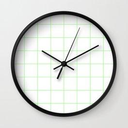 Graph Paper (Light Green & White Pattern) Wall Clock