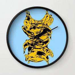 Band Of Bananas 2 Blue Wall Clock