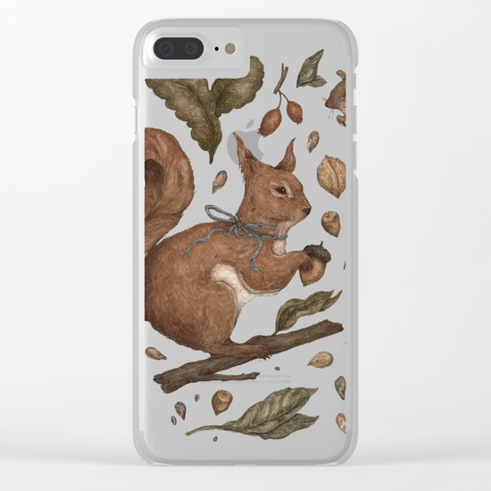 Red Squirrel Clear iPhone Case
