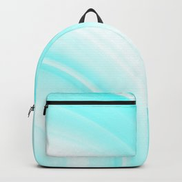 Warm volumetric light blue curves of lines with delicate outlines of rings and semicircles. Backpack