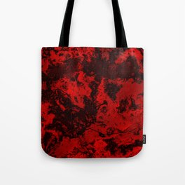 Marble-Red Tote Bag
