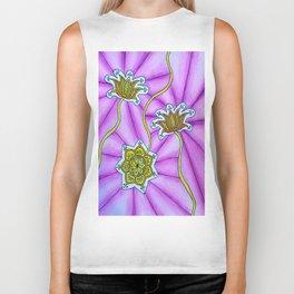 Lotus Flowers Biker Tank