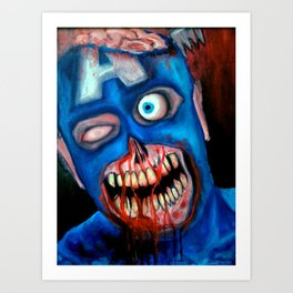 Zombie Cap'n America Art Print