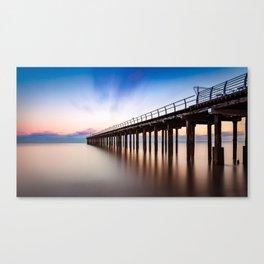 Sunset over Felixstowe Pier Canvas Print