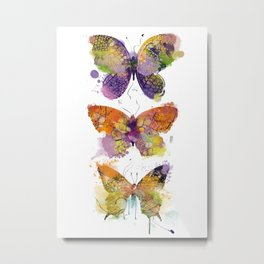 3 farfalle Metal Print