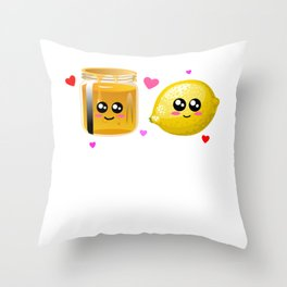 We're Better Together Cute Honey Lemon Pun Throw Pillow