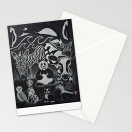 Just Black & White Animals  Stationery Cards