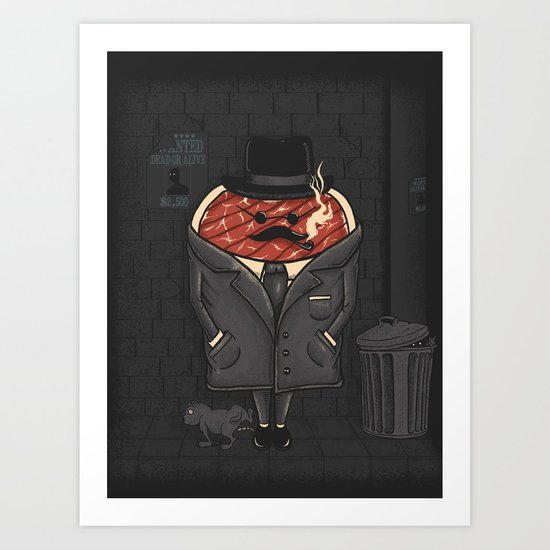 Steak out Art Print