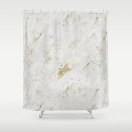 Wind Washed Marble Gold Mine Shower Curtain