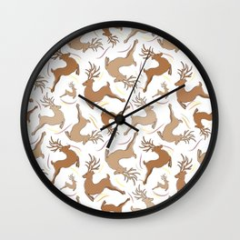 Reindeer! Wall Clock