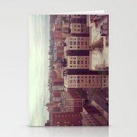 manhattan Stationery Cards featuring Manhattan by Adrianna Grężak