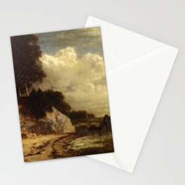 At Larchmont Manor Long Island Sound New York 1890 By David Johnson | Reproduction | Romanticism Lan Stationery Cards