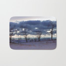 Winter night scene Bath Mat