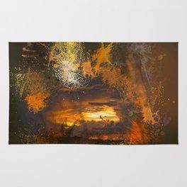 Exploding vibrant sunset Rug