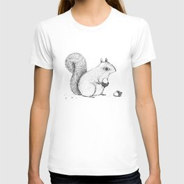 Monochrome Squirrel T-shirt