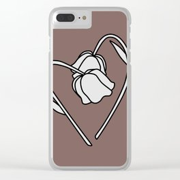 Flower in love Clear iPhone Case