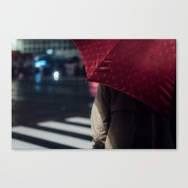 Umbrella - Enchanted by Saul Leiter.and then... Canvas Print