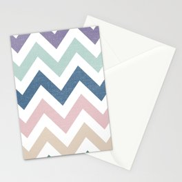 MUTED CHEVRON {COOL TONES} Stationery Cards
