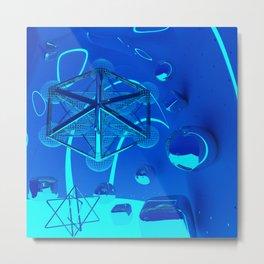 3d Metatron`s Cube Metal Print