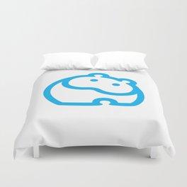 Blue hippo Duvet Cover