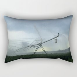 Evening Sprays in Gray Rectangular Pillow