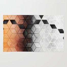 Ombre Concrete Cubes Rug