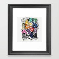 Shoes all stare Framed Art Print