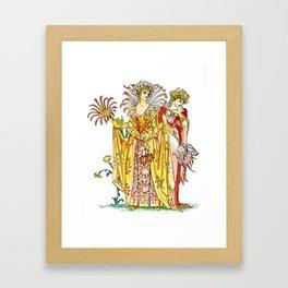 Vintage Tiger-Lily Lady Goddess Framed Art Print
