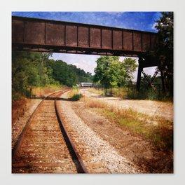 Vintage Railroad Tracks Canvas Print