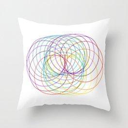 Rainbow Slinky Throw Pillow