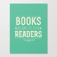 john green Canvas Prints featuring Books- John Green by deducktion