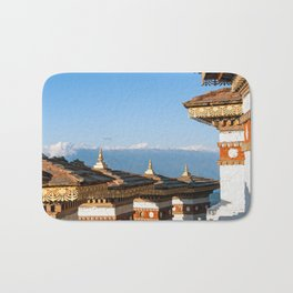 Bhutan: Sunset on Dochula Pass Bath Mat