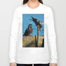 Drinking Pigeons Long Sleeve T-shirt