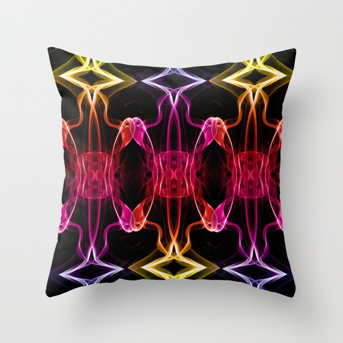 Smoke Chains 3 Throw Pillow