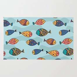 Colorful fish pattern Rug