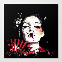 Japanese Creepy Geisha Canvas Print