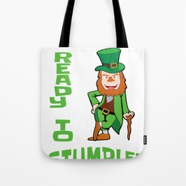 St. Patricks Day Ready to Stumble Leprechaun Tote Bag