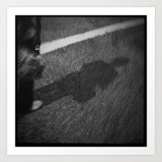 Shadow Street Art Print