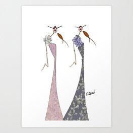 Fanny & Diana Art Print