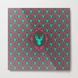 Oh Deer (teal dark) Metal Print
